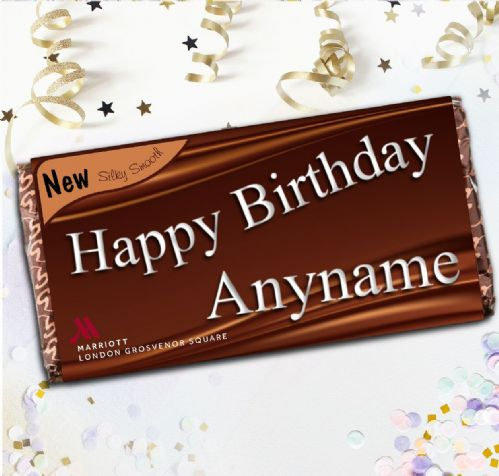 Personalised Birthday Chocolate Bar - Use for Marriott Hotel Only